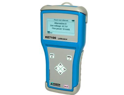 德国多功能网络测试仪RJ45RJ11电话线网线测试仪测线器KE7100