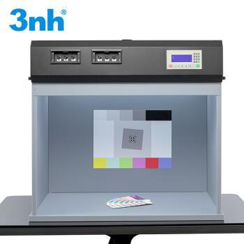 3nh三恩时 标准光源箱七光源T90-7多功能通用型颜色比色箱测试卡照明照度可调可选影像检测对色灯箱 T90-7七光源(可调光源箱)