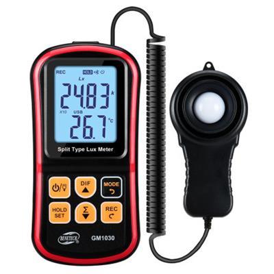 标智GM1030分体式照度计测光表高精度数字式亮度计摄影光照测试仪